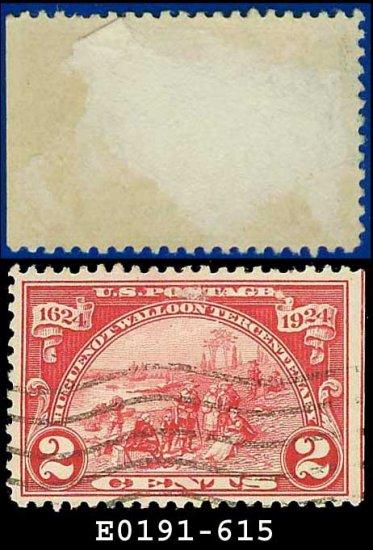 1924 USA USED Scott# 615 � 2c Landing at Fort Orange � Huguenot-Walloon Issue