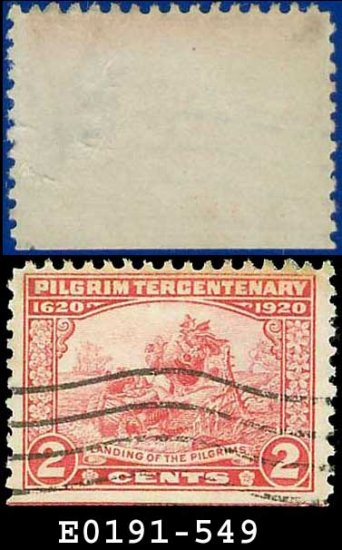 1920 USA USED Scott# 549 � 2c Landing of the Pilgrims � Pilgrim Tercentenary Issue