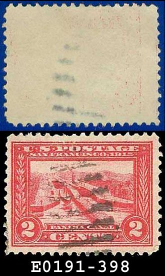 1913 USA USED Scott# 398 � 2c Panama Canal � Panama-Pacific Issue