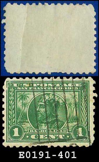 1914 USA USED Scott# 401 � 1c Balboa � Panama-Pacific Issue