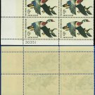 1968 USA Mint No Hinge Scott# 1362 Plate Number Block of Four – 6c Wood Ducks