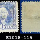 1869 USA USED Scott# 115 – 6c Washington Pictorial – 1869 Pictorial Issues