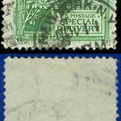 1908 USA USED Scott# E7 – 10c Helmet of Mercury  – Special Delivery Stamps