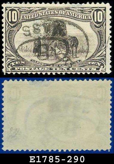 1898 USA USED Scott# 290 � 10c Hardships of Emigration � Trans-Mississippi Series