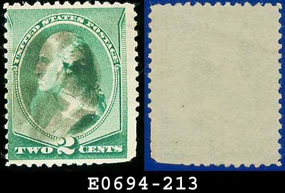 1887 USA USED Scott# 213 � 2c Washington � 1887 Color Change Series