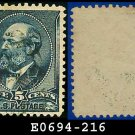 1888 USA USED Scott# 216 – 5c Garfield – 1887-8 Color Change Series