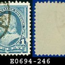 1894 USA USED Scott# 246 – 1c Franklin – 1894 Bureau Issues