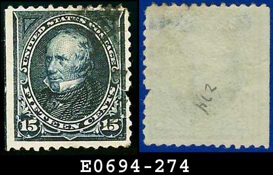 1895 USA USED Scott# 274 � 15c Clay � 1895 Bureau Issues