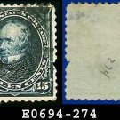 1895 USA USED Scott# 274 – 15c Clay – 1895 Bureau Issues