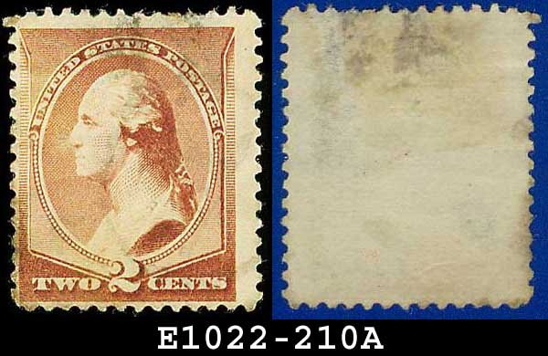 1883 USA USED Scott# 210 � 2c Washington � 1883 Postal Rate Change Issue