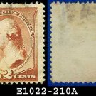 1883 USA USED Scott# 210 – 2c Washington – 1883 Postal Rate Change Issue