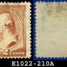 1883 USA USED Scott# 210 – 2c Washington – 1883 Postal Rate Change Issue