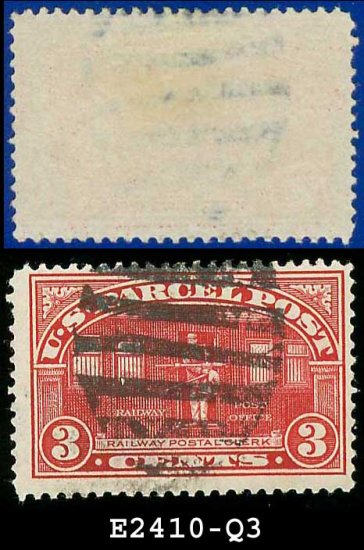 1912-13 USA Scott# Q3 USED  � 3c Railway Post � Parcel Post Issue
