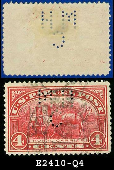 1912-13 USA Scott# Q4 USED � 4c Rural Carrier � Parcel Post Issue