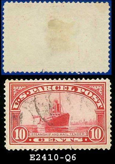 1912-13 USA Scott# Q6 USED � 10c Steamship Mail � Parcel Post Issue