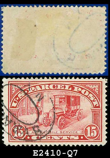 1912-13 USA Scott# Q7 USED � 15c Auto Service � Parcel Post Issue