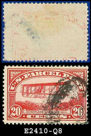 1912-13 USA Scott# Q8 USED � 20c Mail Plane � Parcel Post Issue