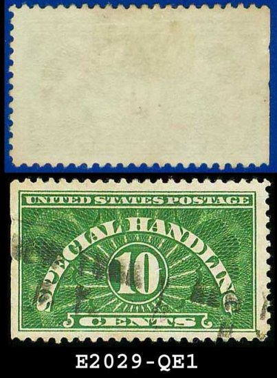 1925-55 USA Scott# QE1 USED � 10c Special Handling � Perforated 11