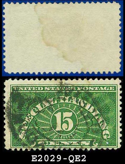1925-55 USA Scott# QE2 USED � 15c Special Handling � Perforated 11