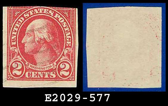 1923-25 USA USED Scott# 577 � 2c Washington � Imperforate Stamp