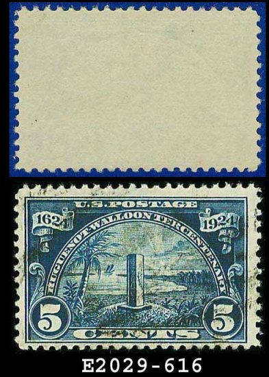 1924 USA USED Scott# 616 � 5c Monument at Mayport, Florida � Huguenot-Walloon Issue