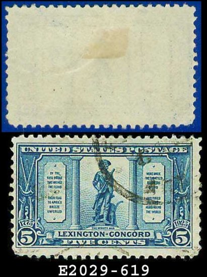 1925 USA USED Scott# 619 � 5c The Minute Man � Lexington-Concord Issue