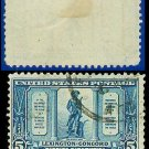 1925 USA USED Scott# 619 – 5c The Minute Man – Lexington-Concord Issue
