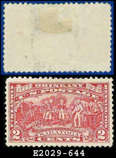 1927 USA USED Scott# 644 � 2c Surrender of Burgoyne � Burgoyne Campaign