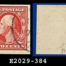 1910 USA USED Scott# 384 – 2c Washington – Imperforate Stamp