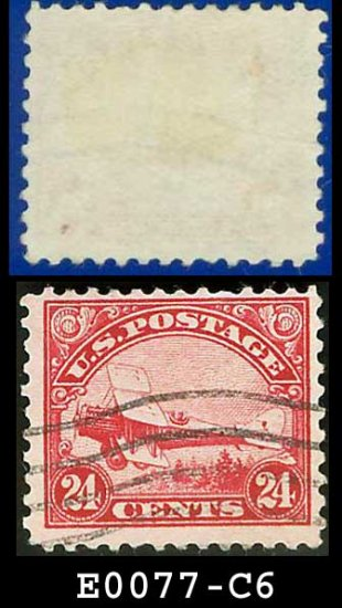 1923 USA USED C6 � De Havilland Plane 24c Airmail E0077