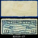 1926-27 USA USED Scott# C7 – 10c US Map and Mail Planes – Air Mail Stamp