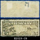 1926-27 USA USED Scott# C8 – 15c US Map and Mail Planes – Air Mail Stamp