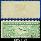 1926-27 USA USED Scott# C9 – 20c US Map and Mail Planes – Air Mail Stamp
