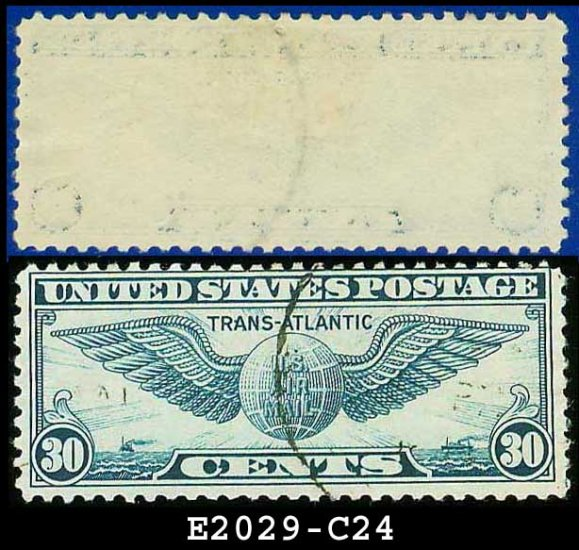 1939 USA USED Scott# C24 � 30c Winged Globe � Trans-Atlantic Issue