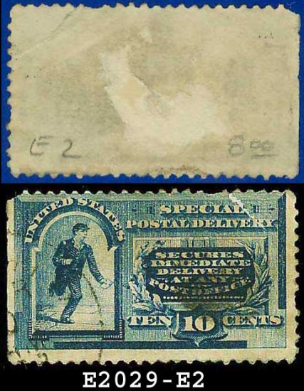 1888 USA USED Scott# E2 � 10c Messenger Running � Special Delivery Stamps