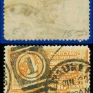 1893 USA USED Scott# E3 – 10c Messenger Running (Orange) – Special Delivery Stamps
