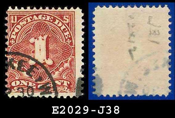 1895-97 USA USED Scott# J38 � 1c Deep Claret  � Postage Due Stamps