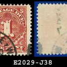 1895-97 USA USED Scott# J38 – 1c Deep Claret  – Postage Due Stamps