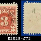 1930-31 USA USED Scott# J72 – 3c Carmine – Postage Due Stamps