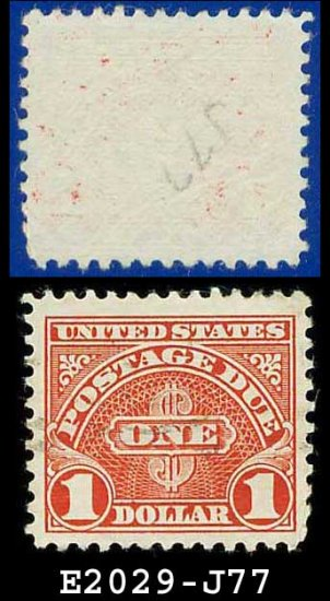 1930-31 USA USED Scott# J77� $1 Carmine � Postage Due Stamps