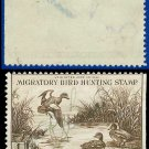 1942 USA USED Scott# RW9 – $1 Baldpates – Duck Stamps
