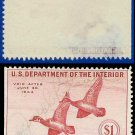 1943 USA USED Scott# RW10 – $1 Wood Ducks – Duck Stamps