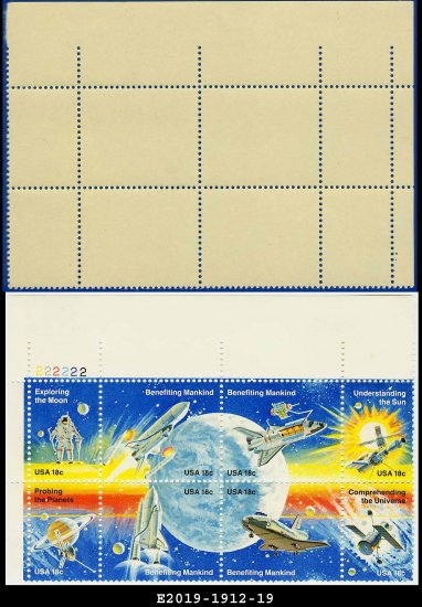 1981 USA MNH Sc# 1912-19 Plate# Block of Eight � 18c Space Achievement  - 1981 Commemoratives