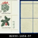 1964 USA MNH Sc# 1254-57 Plate# Block of Four – 5c Christmas Se-tenant - 1964 Commemoratives
