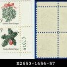 1964 USA MNH Sc# 1254-57 Plate# Block of Four – 5c Christmas Se-tenant - 1964 Commemoratives