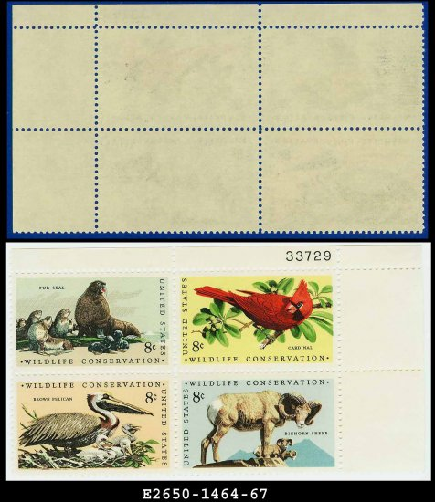 1972 USA MNH Sc# 1464-67 Plate# Block of Four � 8c Wildlife Conservation - 1972 Commemoratives