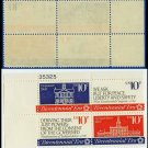 1974 USA MNH Sc# 1543-46 Plate# Blk of 4 – 8c First Continental Congress - 1974 Commemoratives