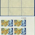 1976 USA MNH Sc# 1690 Plate# Block of Four – 13c Benjamin Franklin - 1976 Commemoratives