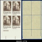 1979 USA MNH Sc# 1774 Plate# Block of Four – 15c Albert Einstein - 1979 Commemoratives
