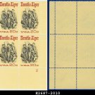 1982 USA MNH Sc# 2010 Plate# Block of Four – 20c Horatio Alger - 1982 Commemoratives